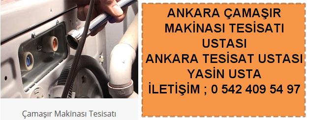 Ankara çamaşır makinası kurulumu tamiri montajı
