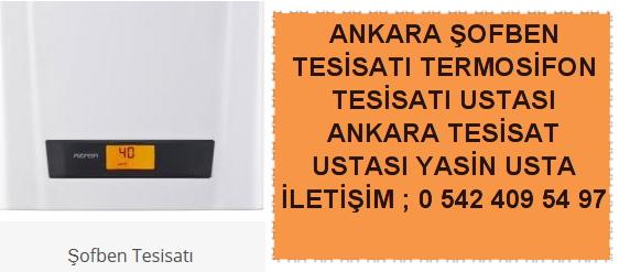 Ankara şofben tesisatı termosifon tesisatı ustası