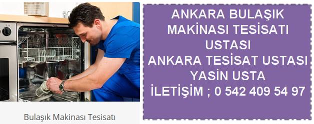 Ankara bulaşık makinası tesisatı ustası