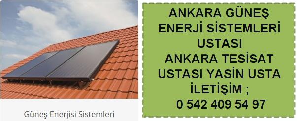 Ankara güneş enerji sistemleri kurulumu montajı tamiri