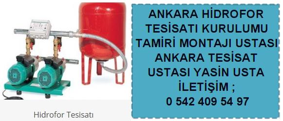 Ankara hidrofor tesisatı ustası montaj tamir bakım