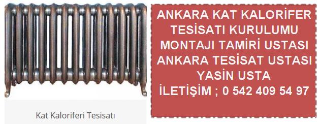Ankara kat kaloriferi tesisatı kurulumu montajı ustası
