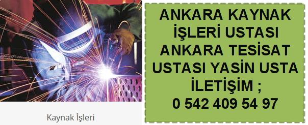 Ankara kaynak işleri ustası