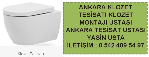 Ankara klozet tesisatı klozet montajı ustası