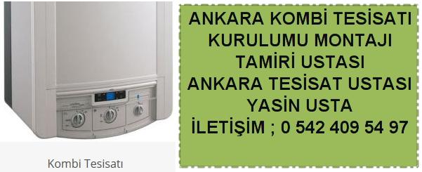 Ankara kombi tesisatı kurulumu montajı tamiri ustası