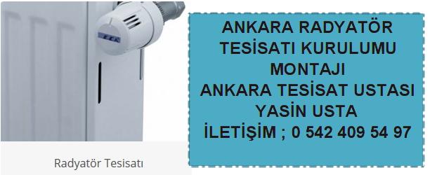 Ankara radyatör tesisatı ustası