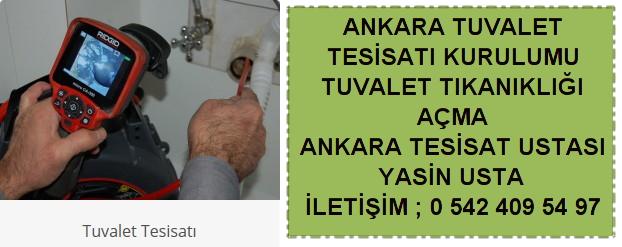Ankara tuvalet tıkanıklığı açma tesisat kurulumu