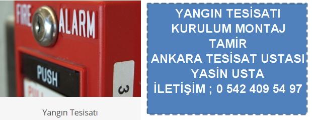 Ankara yangın tesisatı kurulumu montajı